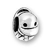 Sterling Large Hole Bead - Duck