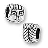 Sterling Large Hole Bead - Girl