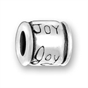 Sterling Large Hole Bead - Joy