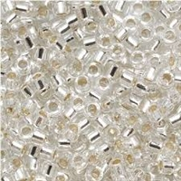 Taiwanese Size 11/0 Seed Bead - Silver Lined Crystal Clear - #S21