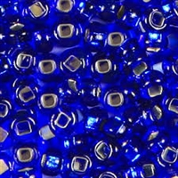 Taiwanese Size 11/0 Seed Bead - Silver Lined Sapphire - #S28