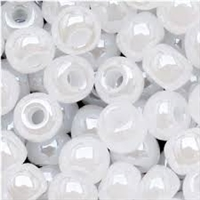 Taiwanese Size 11/0 Seed Bead - White Opal Luster - 141