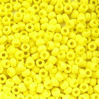 Taiwanese Size 11/0 Seed Bead - Yellow Opaque - # 42L