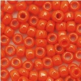 Taiwanese Size 6/0 E Bead - Opaque Orange #50