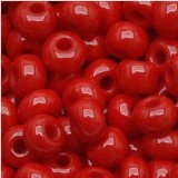 Taiwanese Size 6/0 E Bead - Opaque Red # 45