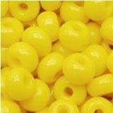 Taiwanese Size 6/0 E Bead - Opaque Yellow #42L