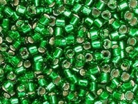 Taiwanese Size 6/0 E Bead - Silver Lined Kelly Green # 24