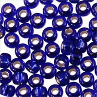 Taiwanese Size 6/0 E Bead - Silver Lined Cobalt Blue #28