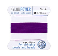 Griffin Nylon Beading Thread W/Attached Needle - Size 4
