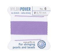 Griffin Nylon Beading Thread W/Attached Needle - Size 6