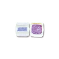 2-Hole Tile Bead, 6mm, - Crystal AB