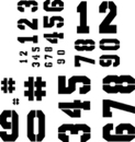 Tulip Sticky Fabric Stencils - Numbers