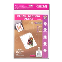 Clear Window Decal Sheets