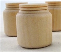 "Wood Miniature Mason Jar - 3/4"" x 15/16"""