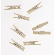 Wooden Spring Clothespins - 2.75""
