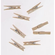 MiniWooden Spring Clothespins - Natural 1""