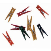MiniWooden Spring Clothespins - Color 1""