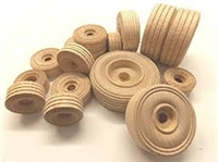 Wood Wheels - Treaded - 2 3/4""