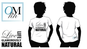 Logo T- Live Life Glamorously Natural - Medium