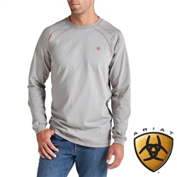 10012258 Ariat Work Crew Shirt - Silver
