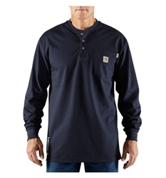 100237-410 Carhartt Work Henley Shirt - Navy