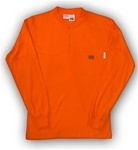 FR0101OR Rasco Henley T-Shirt - Orange