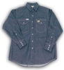FR1021DN Rasco Snap Work Shirt - Denim