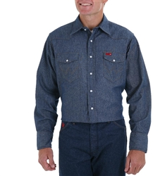 FR12127 Wrangler Work Shirt - Denim