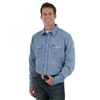 FR123BL Wrangler Work Shirt - Blue Plaid