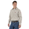 FR124MM Wrangler Lightweight Work Shirt - Khaki/White Plaid
