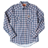 FR131RD Wrangler Lightweight Work Shirt -Blue/Red Plaid