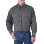 FR3W5GY Riggs by Wrangler Work Shirt - Grey