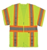 M7148C-3  2W Class 3 Safety Vest - Lime