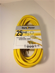 25' 12/3 Gauge Extension Cord