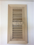 Flush Rabbeted Red Oak Vent