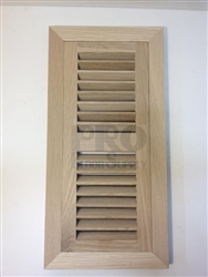 Flush Rabbeted White Oak Vent