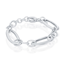 Sterling Silver Oversized Links High Polished Bracelet