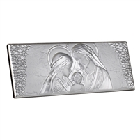 This elegant religious Holy Family Party Favor Icon by Sima Creations features the beauty and shine of 925 Silver while exuding a lighthearted look with its abstract shape. This unique and spirited piece is a part of the extensive works in the argento lin