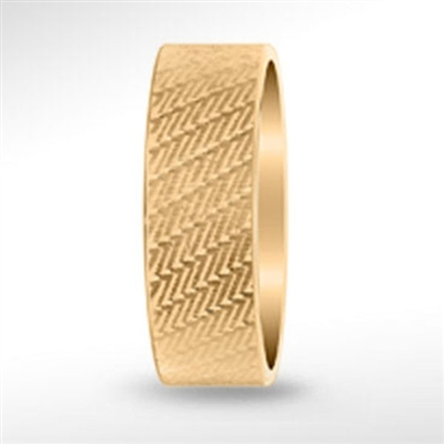 18kt 8mm Yellow Gold Band