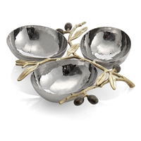 OLIVE BRANCH TRIPLE COMPARTMENT DISH