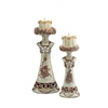 VINTAGE ROSE CANDLEHOLDER 2 IN 1 SET