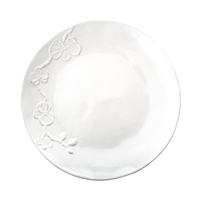 White Orchid Stoneware Dinner Plate