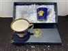 2 CUPS DARK BLUE  GREEK DESIGN