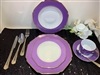 49 PCS DINNER SET, PURPLE MODERN DESIGN
