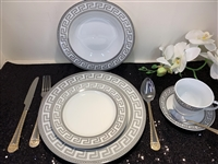 Dinner set, grey Greek Design