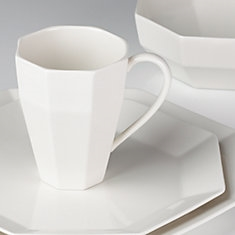 Entertain 365 Shape Faceted 4-piece Place Setting by Lenox
