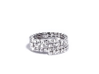 UNOAERRE by UNOAERRE Three Strand Silver Ring