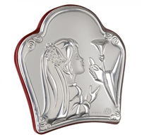 First Communion Boy/Girl W/ Italian 925 Silver Icon