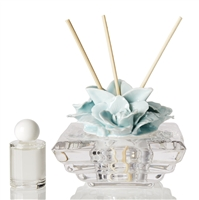 Debora Carlucci Teal Rose Diffuser W/ Crystal Bottom