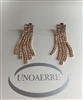 UNOAERRE by UNOAERRE Five Strand Earrings In Rose' Brass
